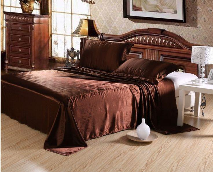 SATIN SILK BED SHEET PILLOWCASES