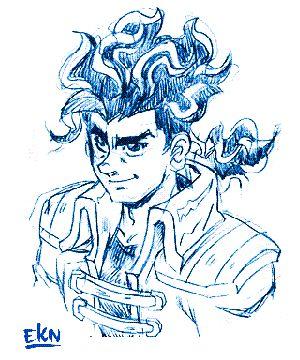 GIF ANIMADO de Yugga Kintana mostrando Proceso de Ilustración de +Cibercali Comics