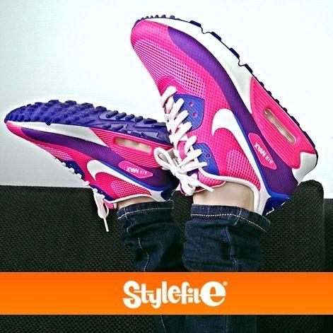 nike air max 90 hyperfuse pink blau weiss
