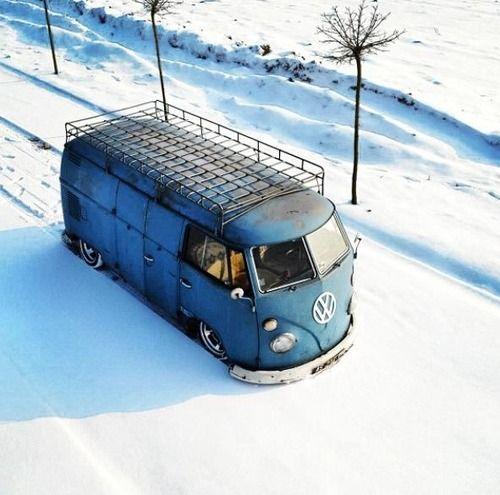VW split panel with great roof rack