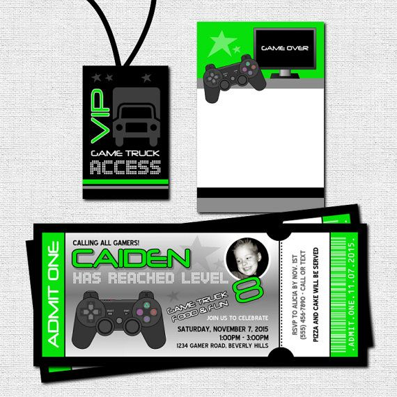Best Party TimeExcellent Images On Pinterest Cocktail - Video game birthday party invitation template free