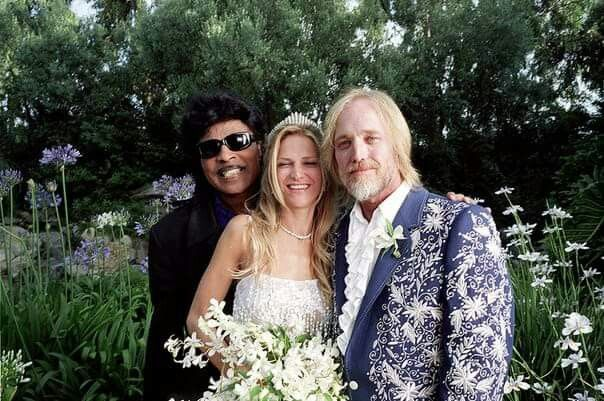 Tom Petty On His Wedding Day To Dana In 2001 With Little Richard