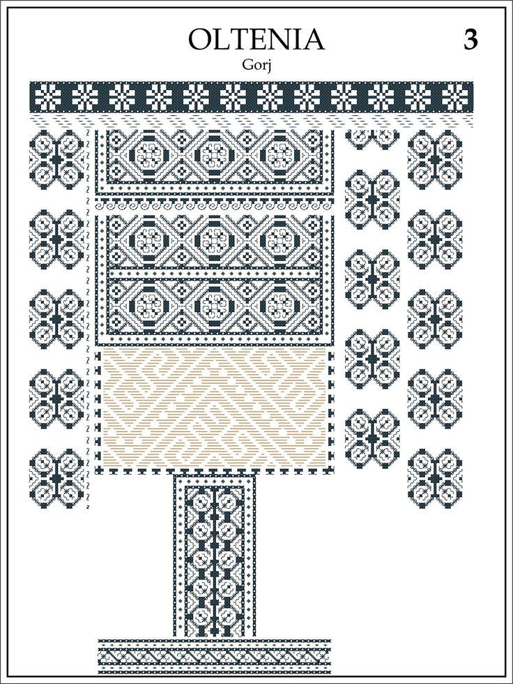 pagina reprodusa din Album de Cusaturi Romanesti, Editat in 1943 de Consiliul Superior al Industriei Casnice; gratie Doamnei Elisa C. Bratianu, care a initiat si a condus tot acest studiu