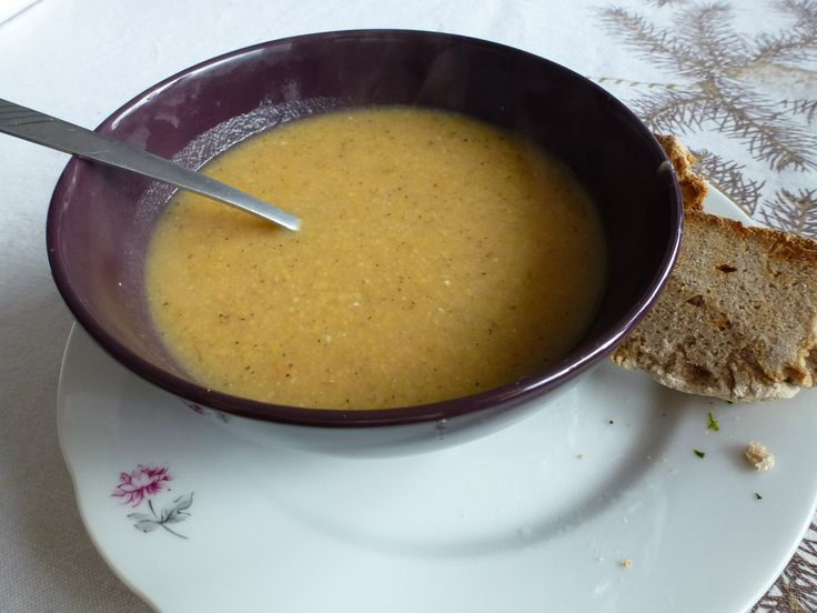 Split pea soup and my sourdough buckwheat bread