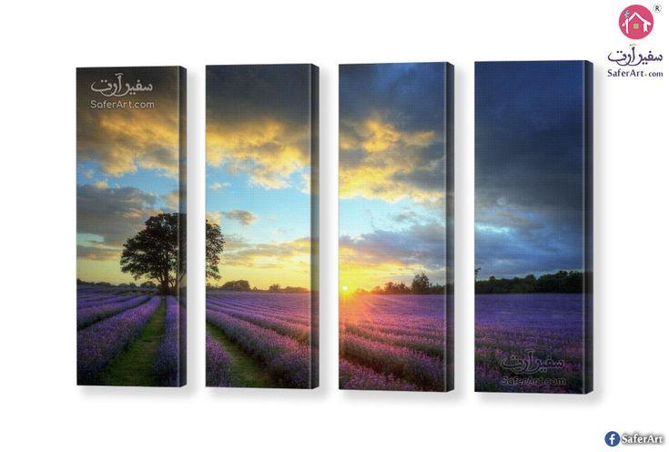 حقل زهور اللافندر سفير ارت للديكور Flower Canvas Lavender Flowers Flowers