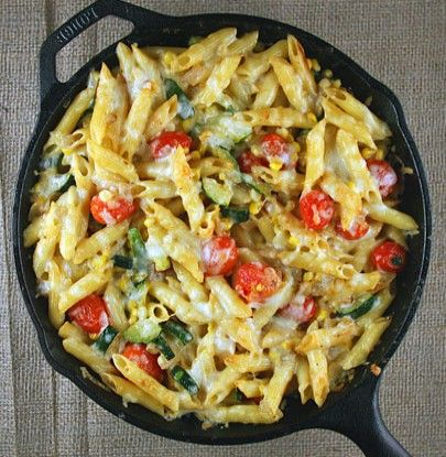 Veggie Pasta Skillet | Simple Dish | Quick, Easy, & Healthy Recipes for Dinner