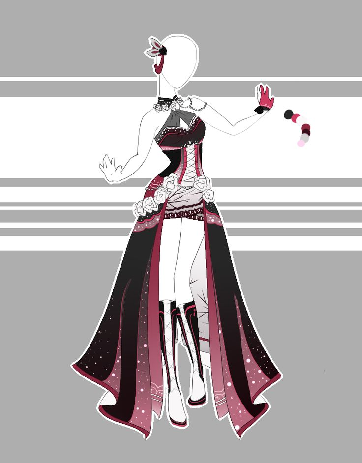 .Outfit Adoptable 61(OPEN). by Scarlett-Knight.deviantart.com on @DeviantArt   Anime/Cosplay ...