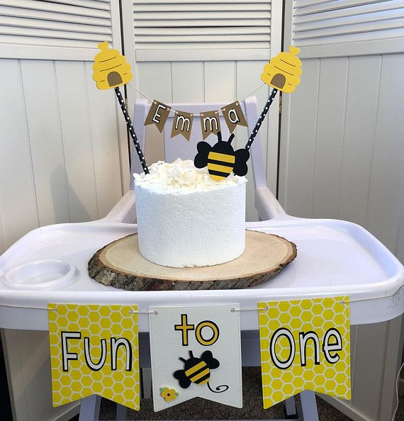 4adb4937bed73 Fun To Bee One High Chair Party Pack - Customize topper up to 7 ...