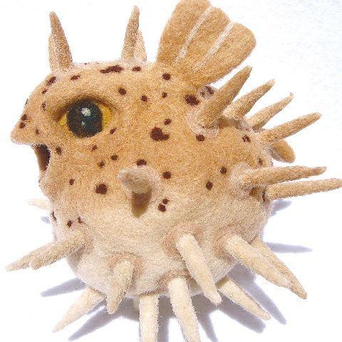 1000 images about needle felt on pinterest needle for Puffer fish stuffed animal