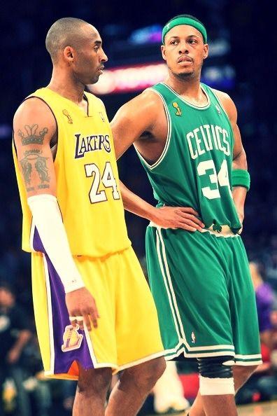 Kobe and Paul Pierce