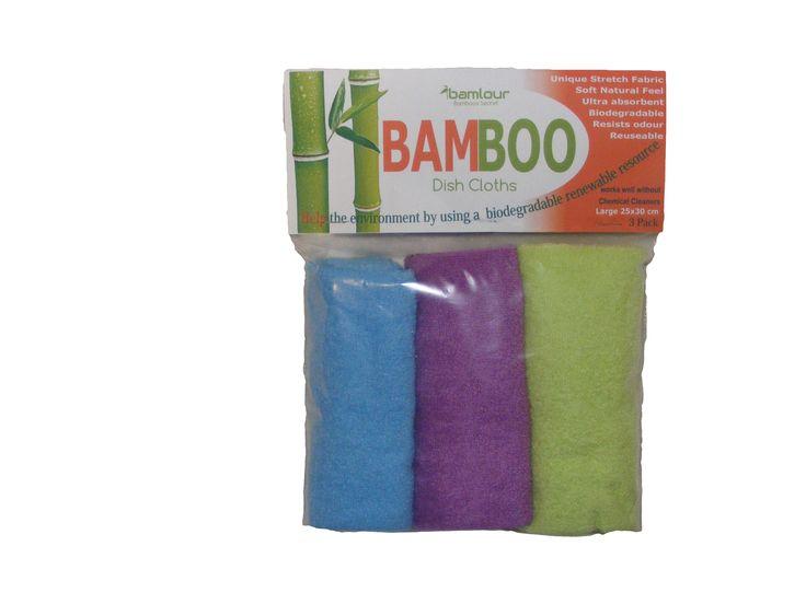 Bamlour� Bamboo 3 pk Dish cloths