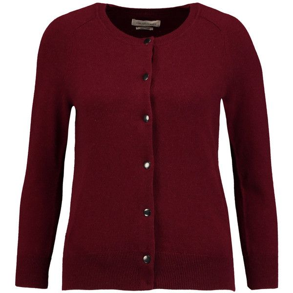 Étoile Isabel Marant - Kalibo Cotton And Wool-blend Cardigan ($135) ❤ liked on Polyvore featuring tops, cardigans, burgundy, burgundy top, oversized cardigan, over sized cardigan, oversized burgundy cardigan and cardigan top