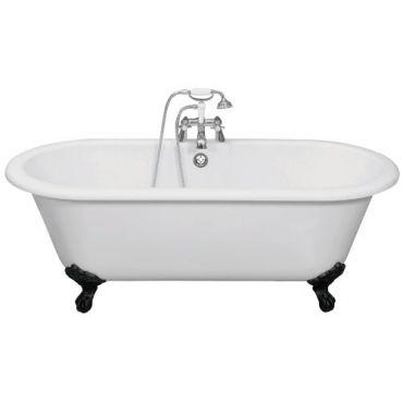 Cambridge bath with traditional cast iron feet