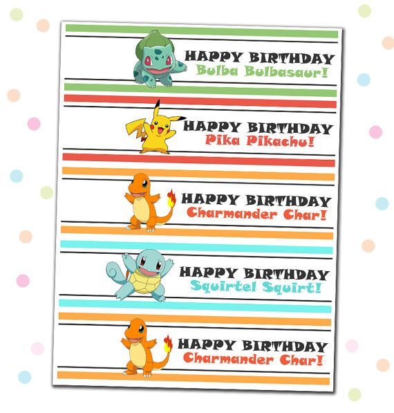 23 best Printable Pokemon party supplies, home DIY birthday party - birthday party checklist template