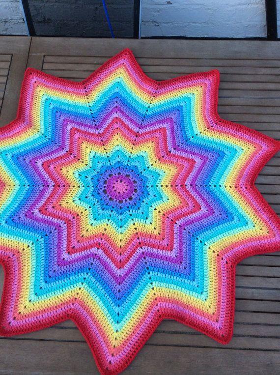 ready to ship Crochet multicoloured star baby by CrochetOutre