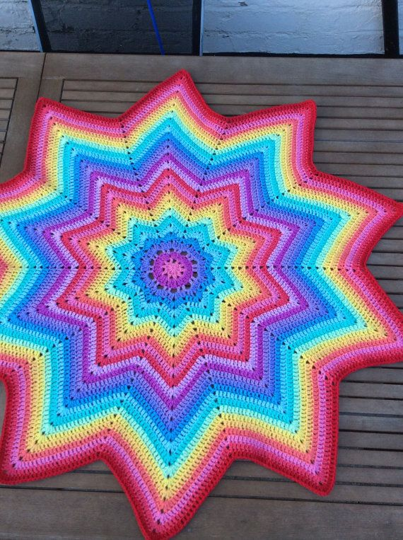 ready to ship Crochet  multicoloured star baby by CrochetOutre