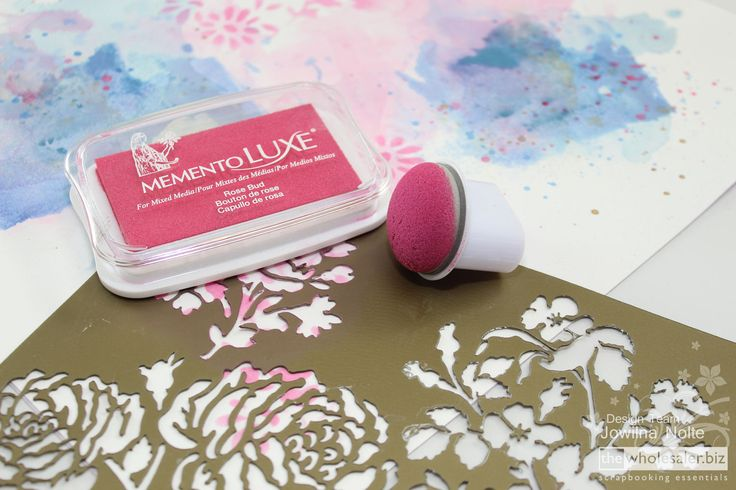 Today I am showing you how to prep an artistic watercolour effect background using the inks you may have in your stash or you may have access to.