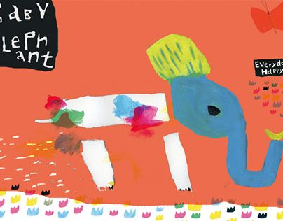 """Check out new work on my @Behance portfolio: """"Baby Elepahant - Everyday, Happy"""" http://be.net/gallery/40624559/Baby-Elepahant-Everyday-Happy"""