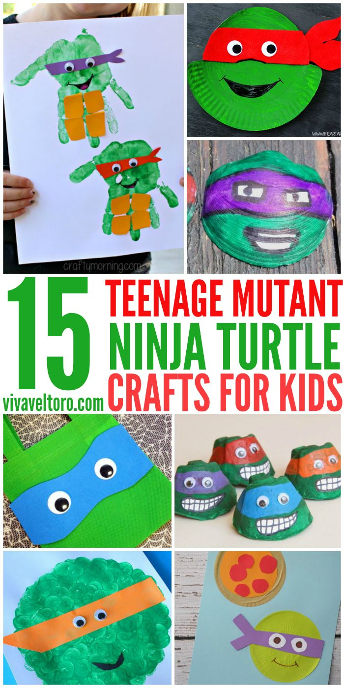 Teenage Mutant Ninja Turtle crafts for kids - perfect for a TMNT themed birthday party activity too!