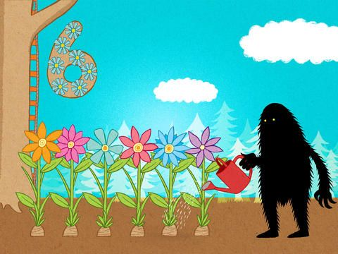Six flowers! The Lonely Beast 123 – a counting adventure for kids for iPhone, iPad & iPod Touch