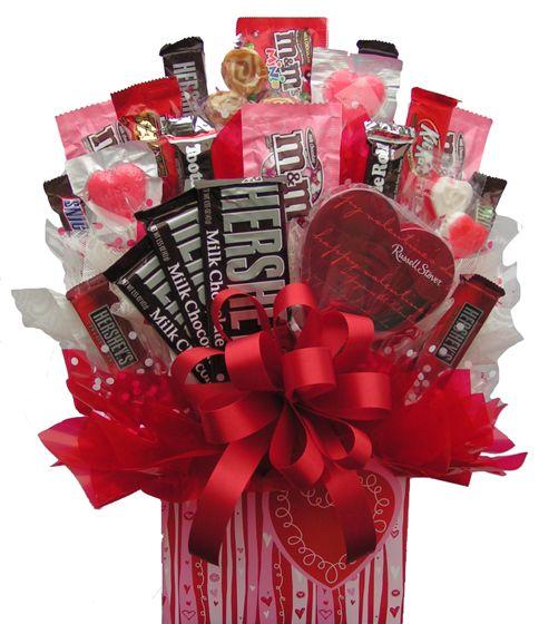 USA Candy Bouquet - Sweetheart Box Bouquet