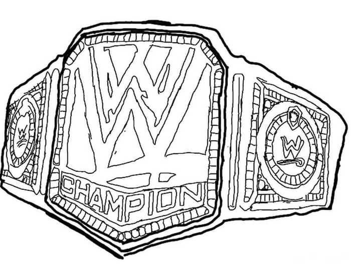 Printable World Wrestling Entertainment Wwe Coloring Pages Free