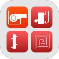 Heating and Natural Gas: Pipe Sizing, Pressure Drop and Cost Calculations. App collection for iPhone / iPad. #heating #gas #natgas #apps #iPhone #iPad #productivity #collection #bundle #pack