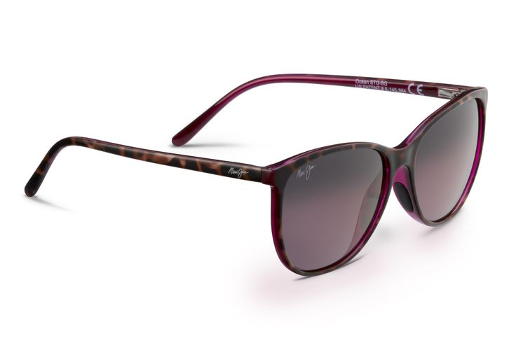 Maui Jim Ocean Sunglasses express personality and vintage charm with its cat eye design and stylish color options. This feminine sunglass is designed with a lightweight nylon frame and embedded rubber