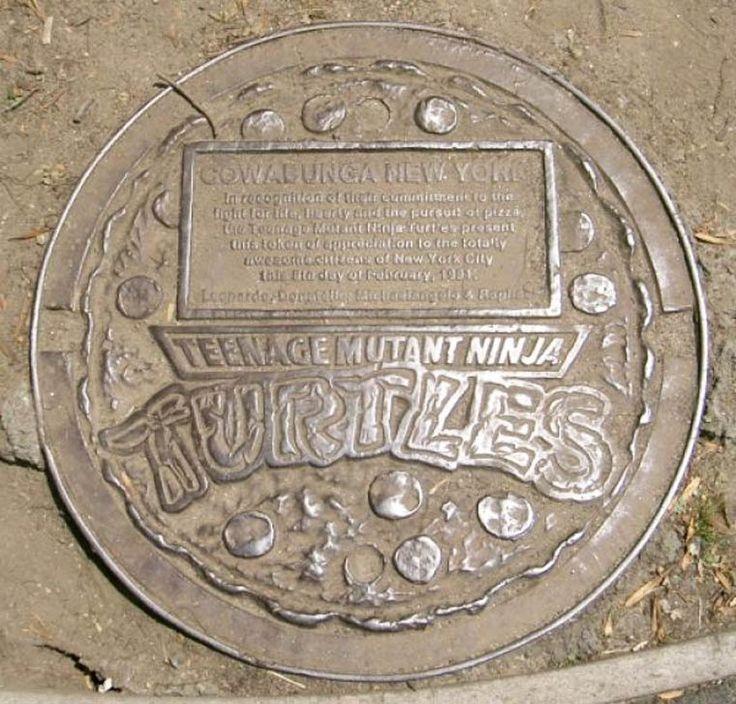 Plaque d'égout officielle des Tortues Ninja