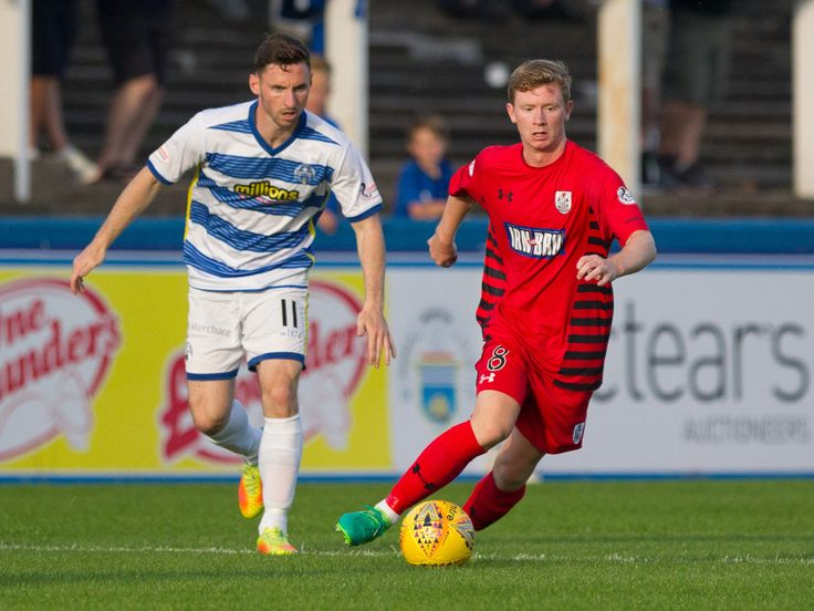 Queen's Park's Dominic Docherty in action during the Betfred Cup game between Morton and Queen's Park.