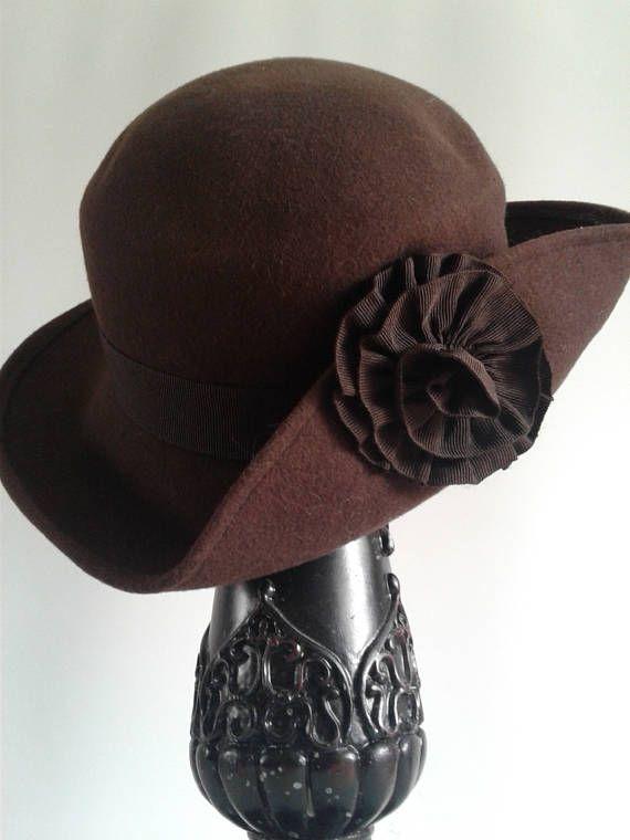 Formal Hat Felt Hat Hat from the 1960-1970's Vintage