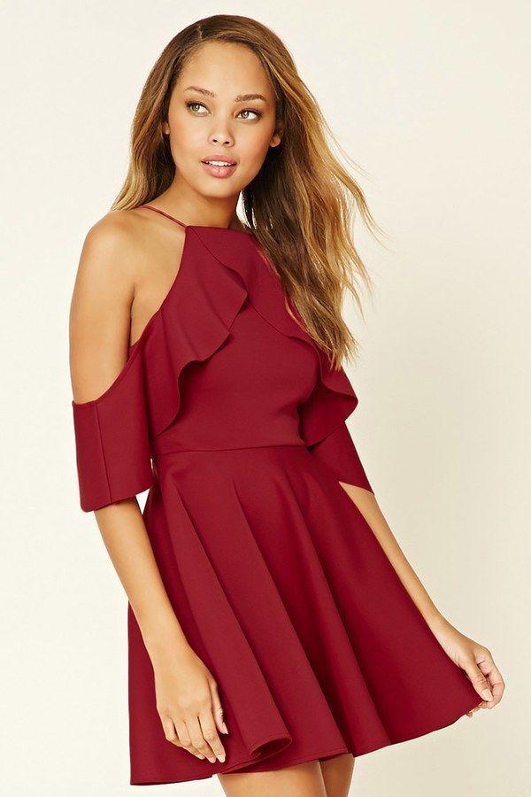 forever 21 rare london open shoulder dress kurze kleider