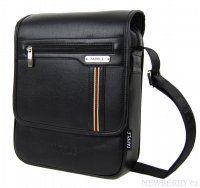 Elegantní menší černá pánská crossbody taška Tapple C5986