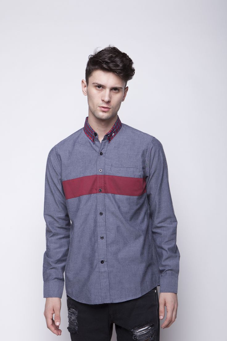 Vertical Red Shirt | IDR 180.000