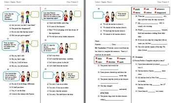 This is an elementary level upper primary English as a Second Language (ESL) examination. It was given to primary-school grade 6 students in Asia whose native language was not English. If you're finding it tough to have to put together or format a test for upper primary school children, this exam is ready to print and use.