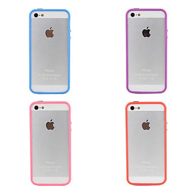 Carcasa Anti Golpes Transparente para iPhone 5 / Colores Surtidos – USD $ 0.99