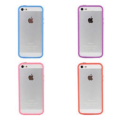 Carcasa Anti Golpes Transparente para iPhone 5 / Colores Surtidos – USD $ 0.99