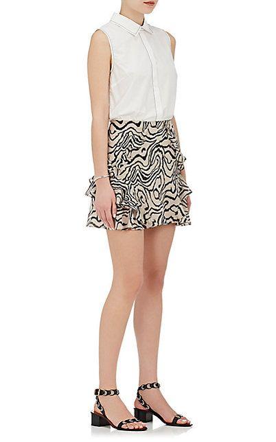 Derek Lam 10 Crosby Silk Chiffon Ruffle Miniskirt - Skirts - 505220745