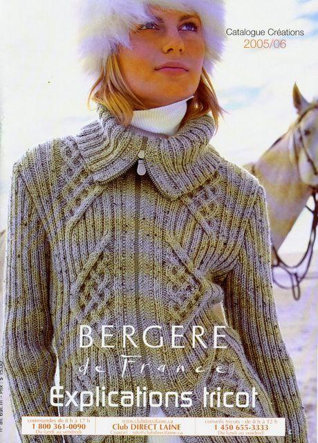 BERGERE DE FRANCE.EXPLICATIONS TRICOT CREATIONS 2005-2006 - ok