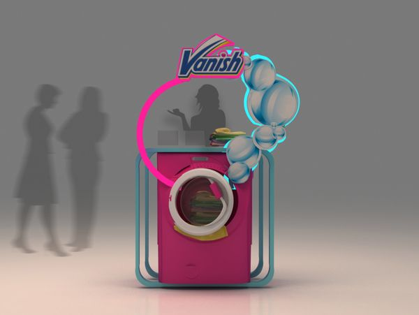 Vanish display counter 1 25 Innovative 3D Exhibition Designs, Display Stands & Booth Collection