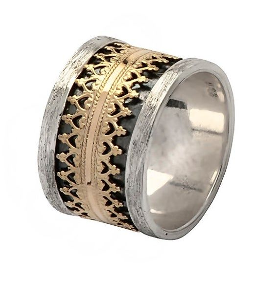 Spinner Ring For Women Silver Ring New Rose Design Silver Spinner Ring Handmade Jewelry Spinner Ring, 925 Sterling Silver Spinner Ring