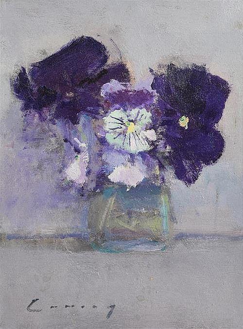 Fred Cuming RA (b.1930) British Still Life - Flowers in a Vase
