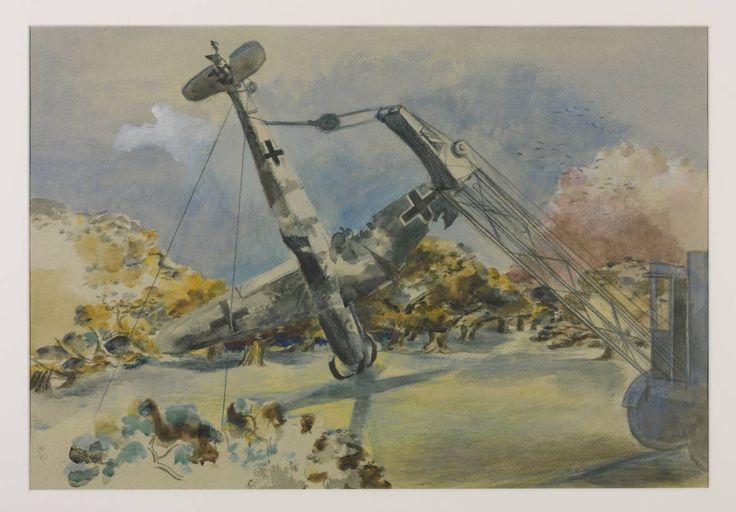 Paul Nash, 'The Messerschmidt in Windsor Great Park' 1940