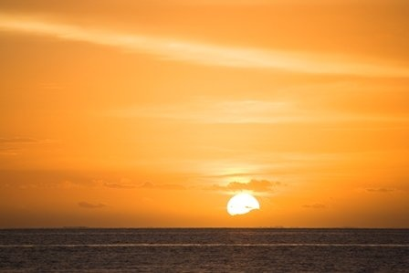 Sun sets as seen from Malolo Island Resort in the mamanuca group of islands - western Fiji.   *Dec 2012.   ** Malolo Is. Resort photo.