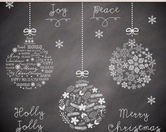Weihnachten Clipart Winter Cliparts rot von 1burlapandlace auf Etsy