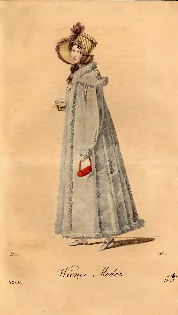 1818, Wiener Moden Probably Polish style but ... she carried a small red bag! For more information:  http://www.wbc.poznan.pl/dlibra/doccontent?id=148918&from=FBC