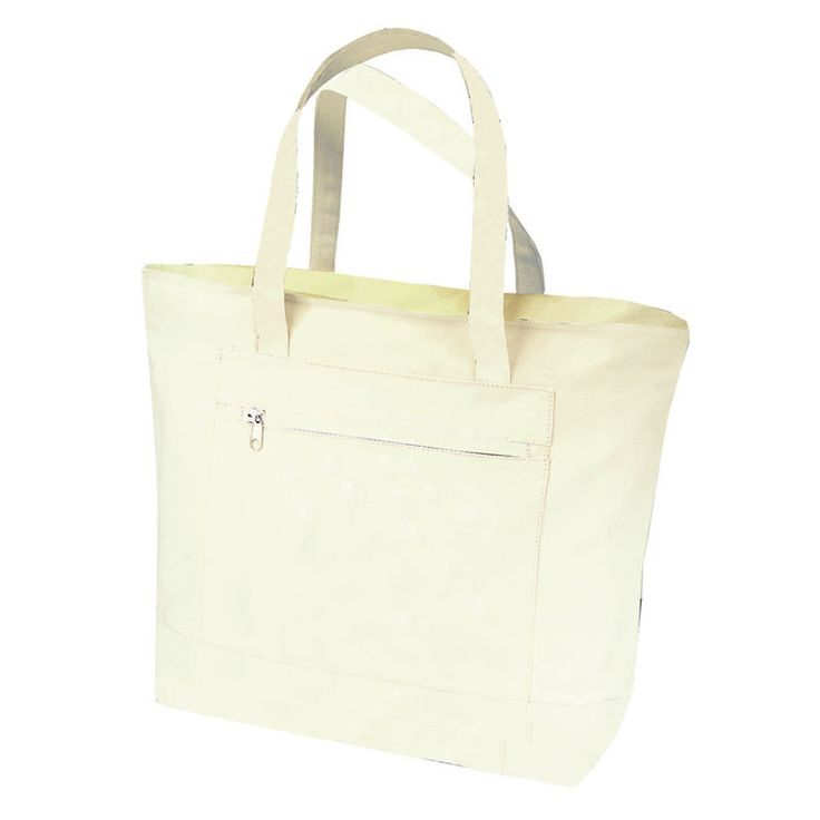 Strong Heavy Canvas Zippered Tote Bags