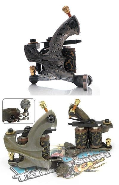 Tattoo Machines and Parts: Damascus Series Reaper (Shader) 10-Wrap Coil Tattoo Machine Steel Supply BUY IT NOW ONLY: $69.99