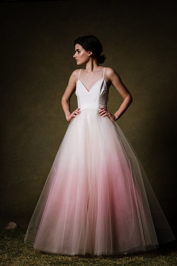 SAMPLE SALE Ombre Dip Dyed Tulle Ballgown by CleoandClementine #affiliate