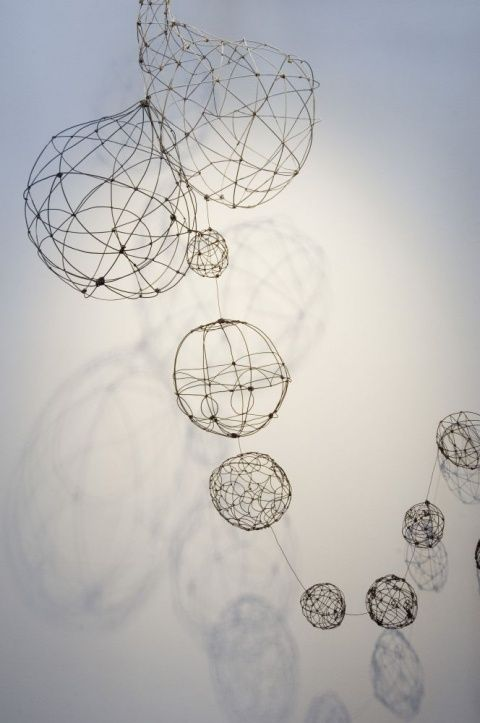Hanging Wire Orbs Barbara Gilhooly